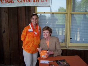 Pat Summitt at the 2005 Big Orange Caravan Birmingham AL